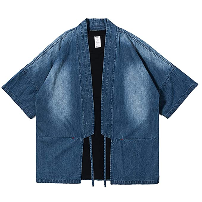 Amazon.com: TAKUSHI HF Kimono Cardigan - Chaqueta para ...