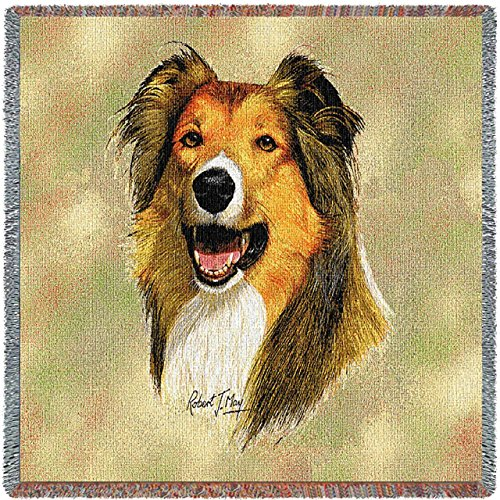 Pure Country 1942-LS Rough Collie Pet Blanket, 54 by 54-Inch