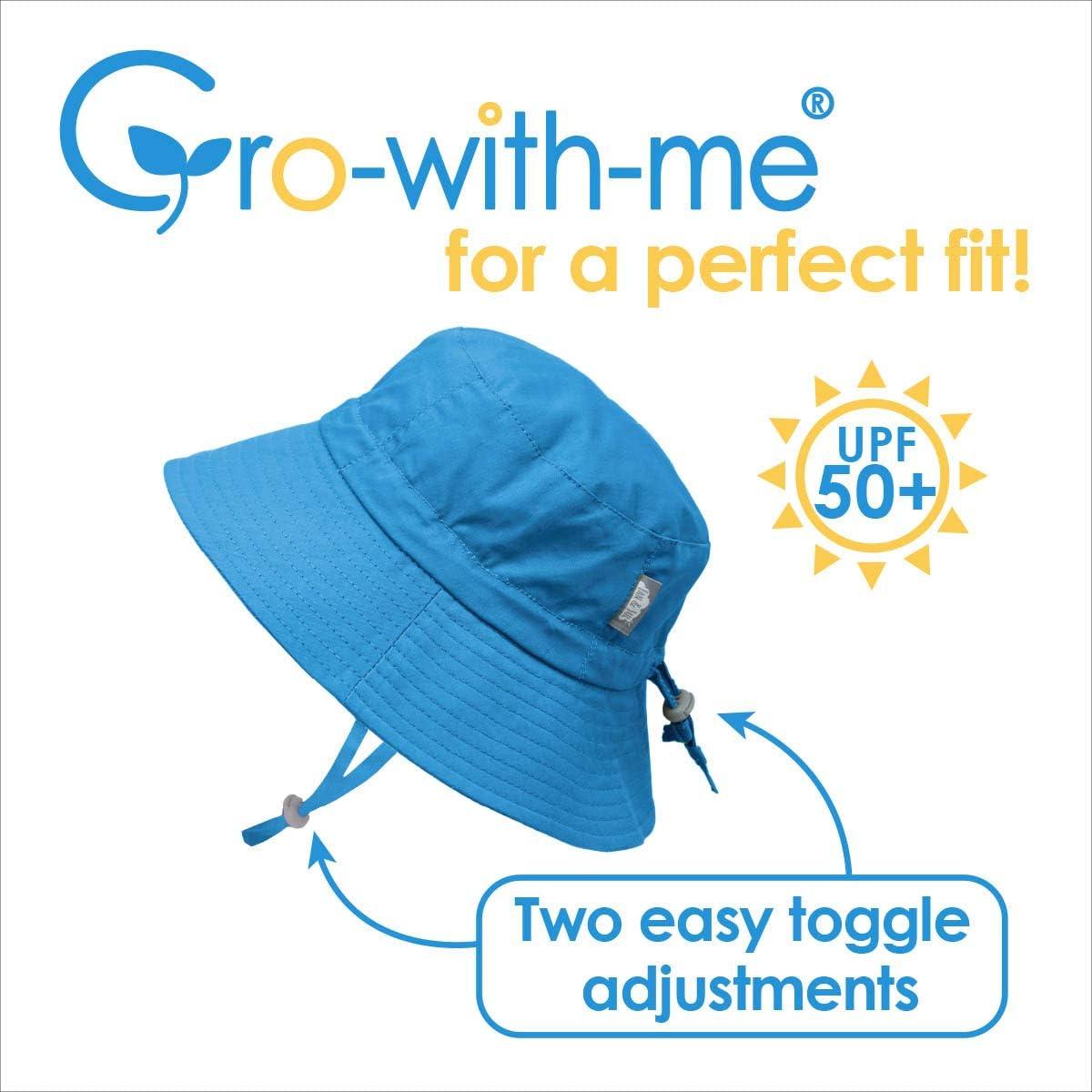 M: 6-24m, White Daisy Drawstring Adjustable Jan /& Jul Toddler Girls Cotton Bucket Sun Hats 50 UPF Stay-on Tie