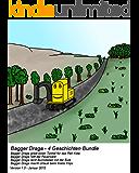 Draga 4 Geschichten Bundle (Reh, Feuerwehr, Eule, Krebs) - Bilderbuch Gutenachtgeschichte (Bagger Draga 4er Bundle 1)