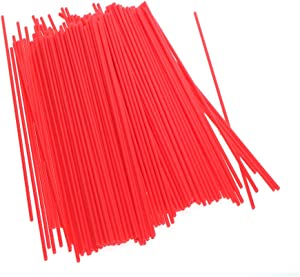 Aerosol Spray Can Red Plastic Straws -Oil Cleaner Lubricant Tubes for Automotive Lubricant, Cleaner, Penetrating Oil(100PACK)