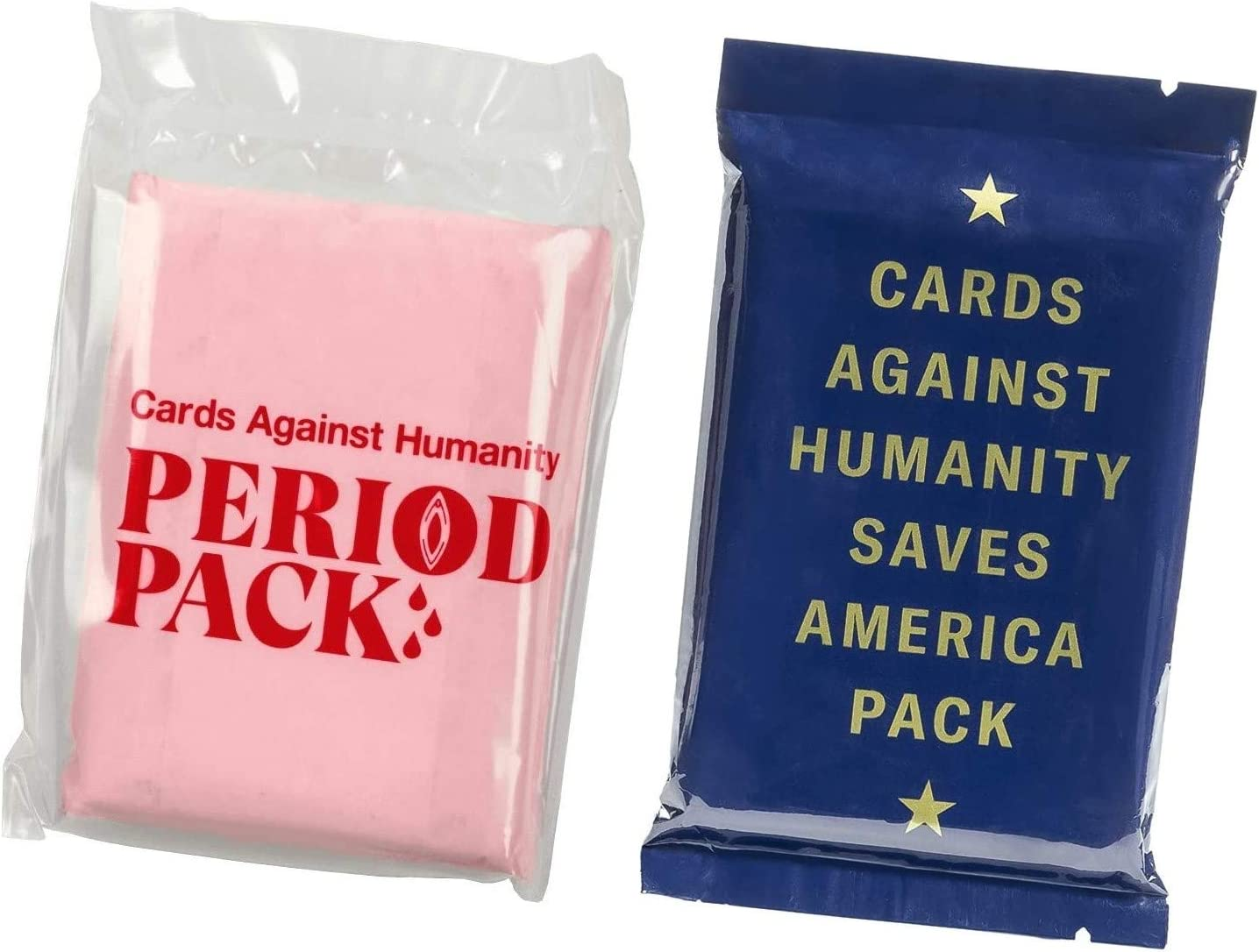 Cards against Humanity Period and Saves America Packs