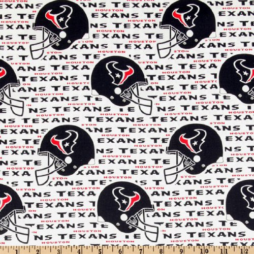- Fabric Traditions NFL Cotton Broadcloth Houston Texans White/Navy Fabric by The Yard, White/Navy