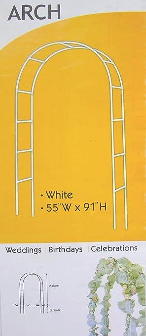 metal wedding arch 55 w x 91 h color white 1 arc01