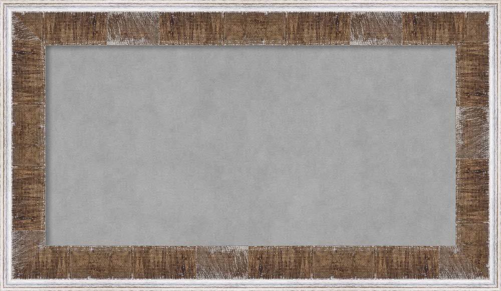 Amanti Art Farmhouse Brown Narrow Framed Magnetic Boards, 29 x 17,