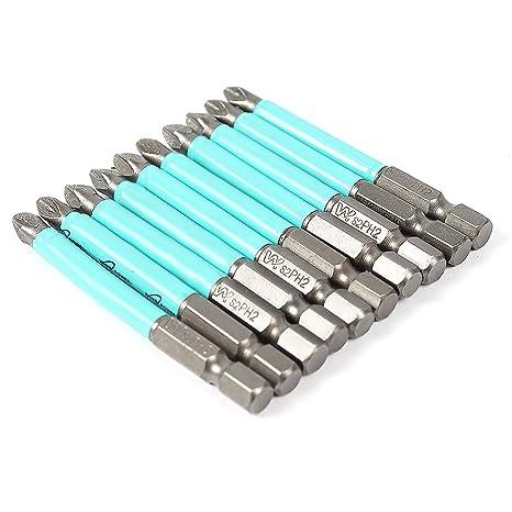 10 piezas brocas antideslizantes para destornillador 70 mm PH2 Broca ...