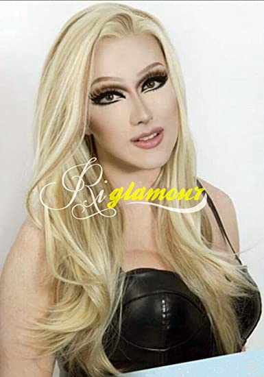 Amazon riglamour mixed blonde brown highlights wig straight riglamour mixed blonde brown highlights wig straight heat resistant synthetic lace front wigs half hand tied pmusecretfo Choice Image