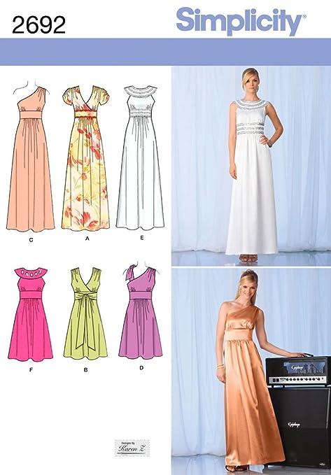 Simplicity 2692 - Patrones de costura para hacer vestidos de fiesta ...