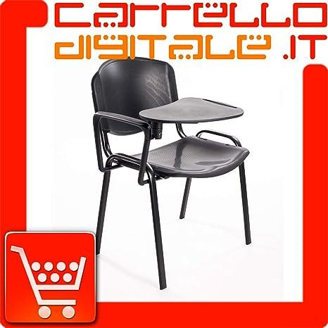 Sedie In Plastica Stock.Notek Srl Stock Di 6 Sedie Impilabili In Plastica Dura Con Ribaltina
