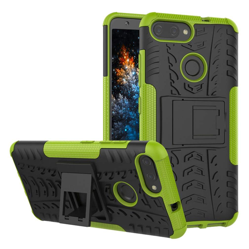 Funda para Xiaomi Mi 8 Lite Resistente Carcasa de protecci/ón Extrema con funci/ón Atril Que Absorbe los Golpes Desmontable MRSTER Xiaomi Mi 8 Lite Funda 2 en 1 dise/ño de patr/ón de neum/áticos