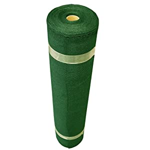 Coolaroo 436094 Outdoor or Exterior, (6' X 50' Small Roll), Forest Green Shade Fabric 50% UV Coverage for Gardening, ((12' x 50'),
