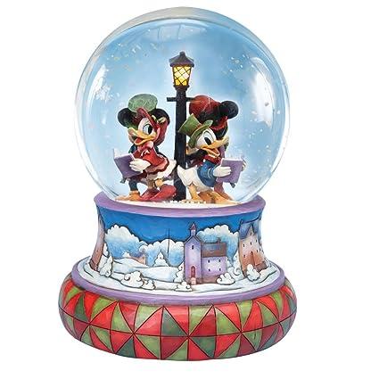 dda57deb2d Amazon.com  Jim Shore Disney Traditions Mickey Caroling Waterglobe ...