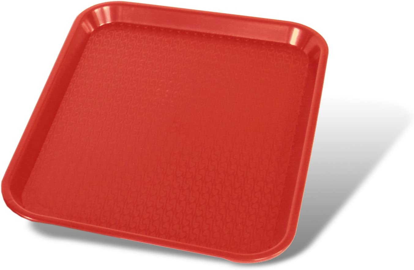 Crestware Fast Food Tray 12 by 16-Inch, Red