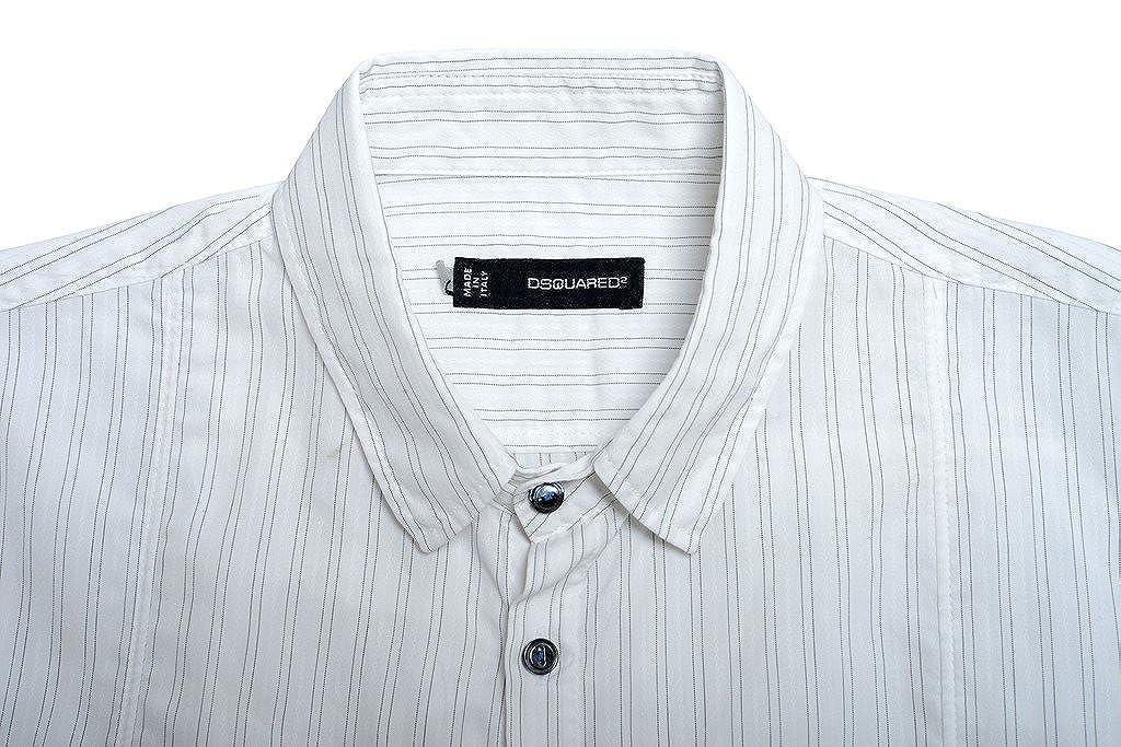Dsquared2 Mens Multi-Color Striped Button Down Casual Shirt