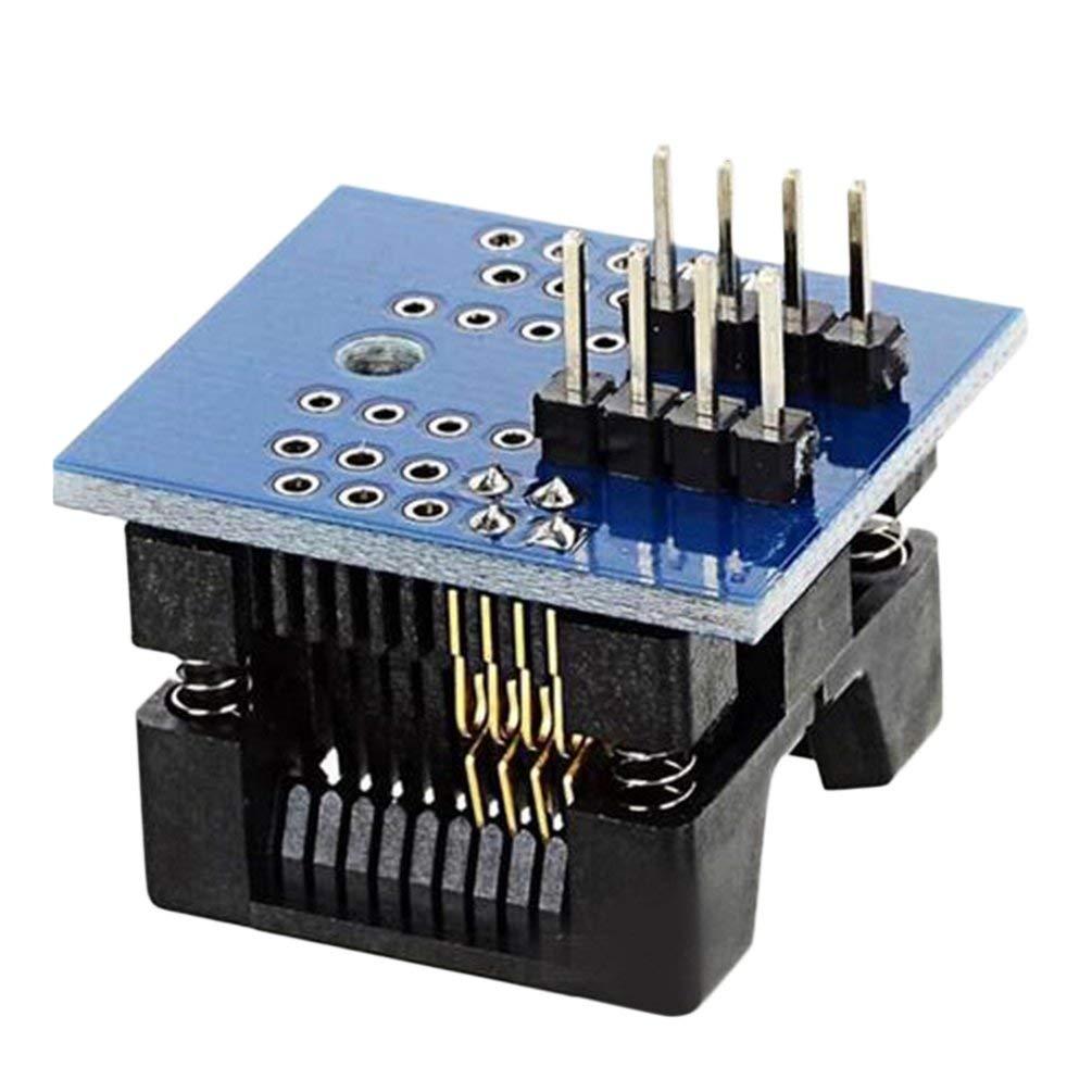 TAOHOU SOP8 a DIP8 Sede Wide Body Presa Adattatore per Programmatore Passo da 200mil Blu Blu