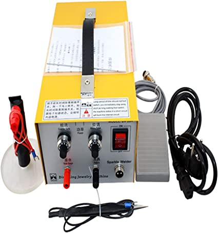 2 in 1 Pulse Sparkle Spot Welder,200W Jewelry Welder for Necklace Gold Silver Platinum 110V Shipping from USA