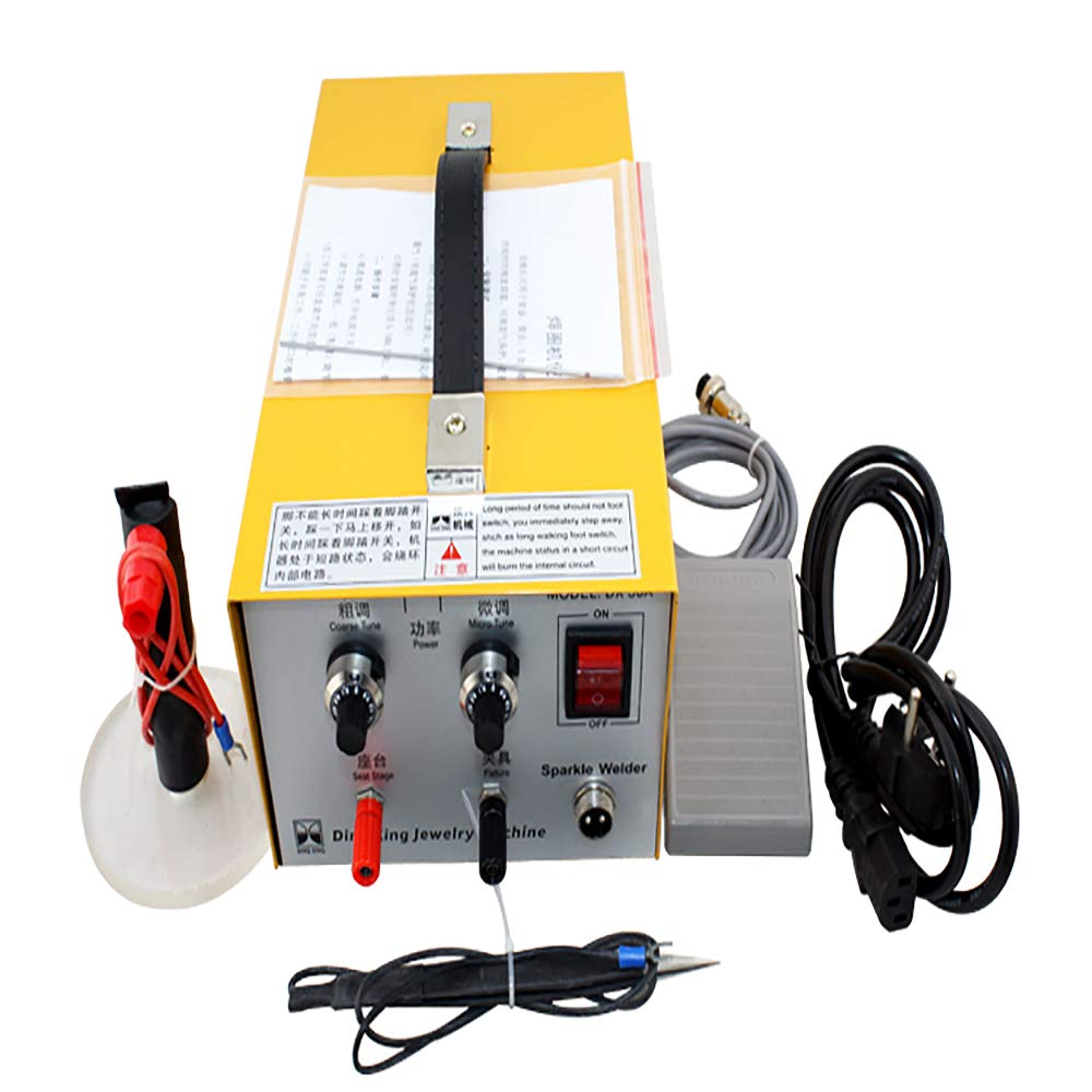 Pulse Sparkle Spot Welder, Electric Jewelry Welding Machine 110V (Gold Silver)(Shipping from USA) Vinmax