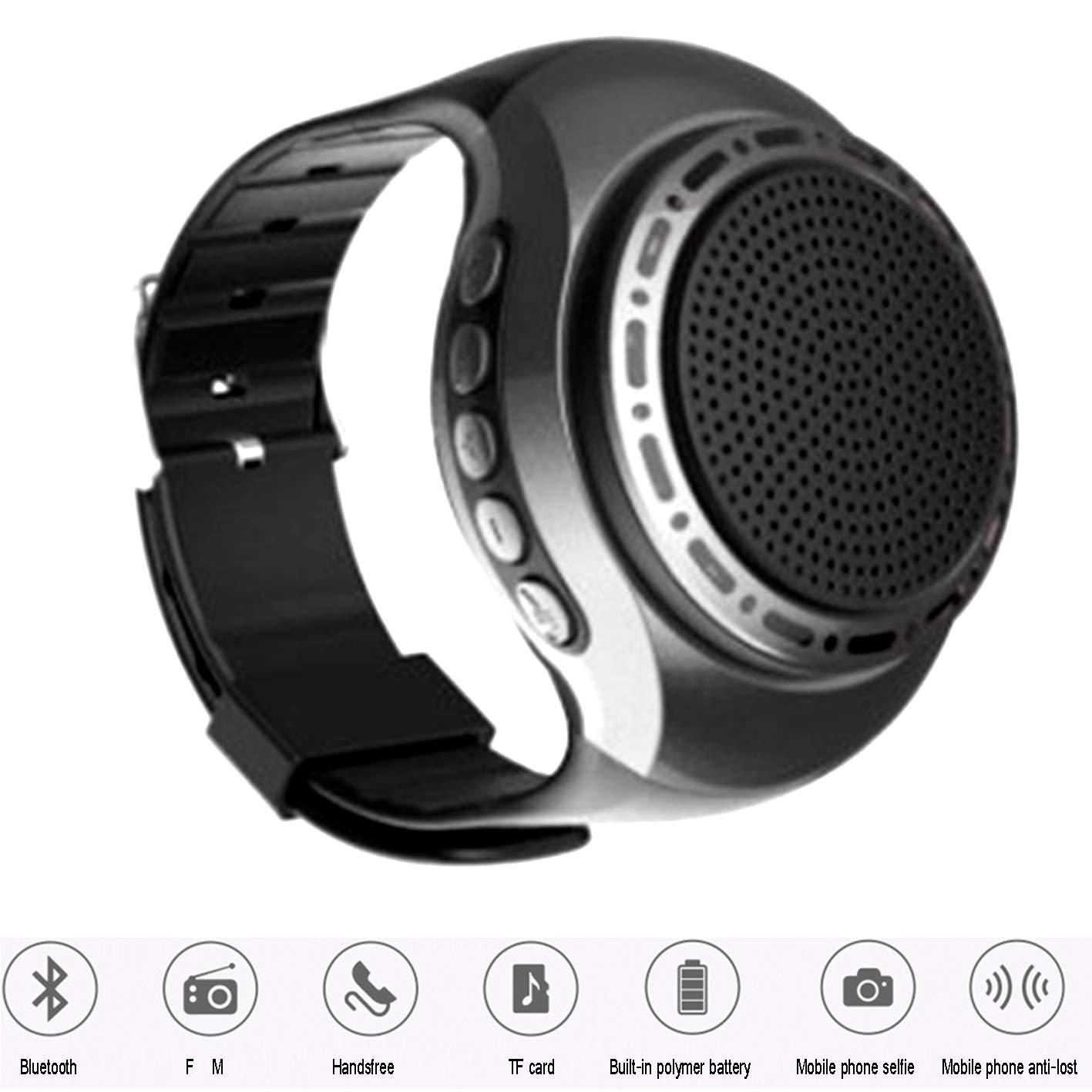 LOEROY Smartwatch, Altavoz Bluetooth inalámbrico portátil con ...
