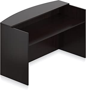 """Offices To Go Office Reception Desk Shell Dimensions:72""""W X 30""""D X 42""""H - American Espresso"""