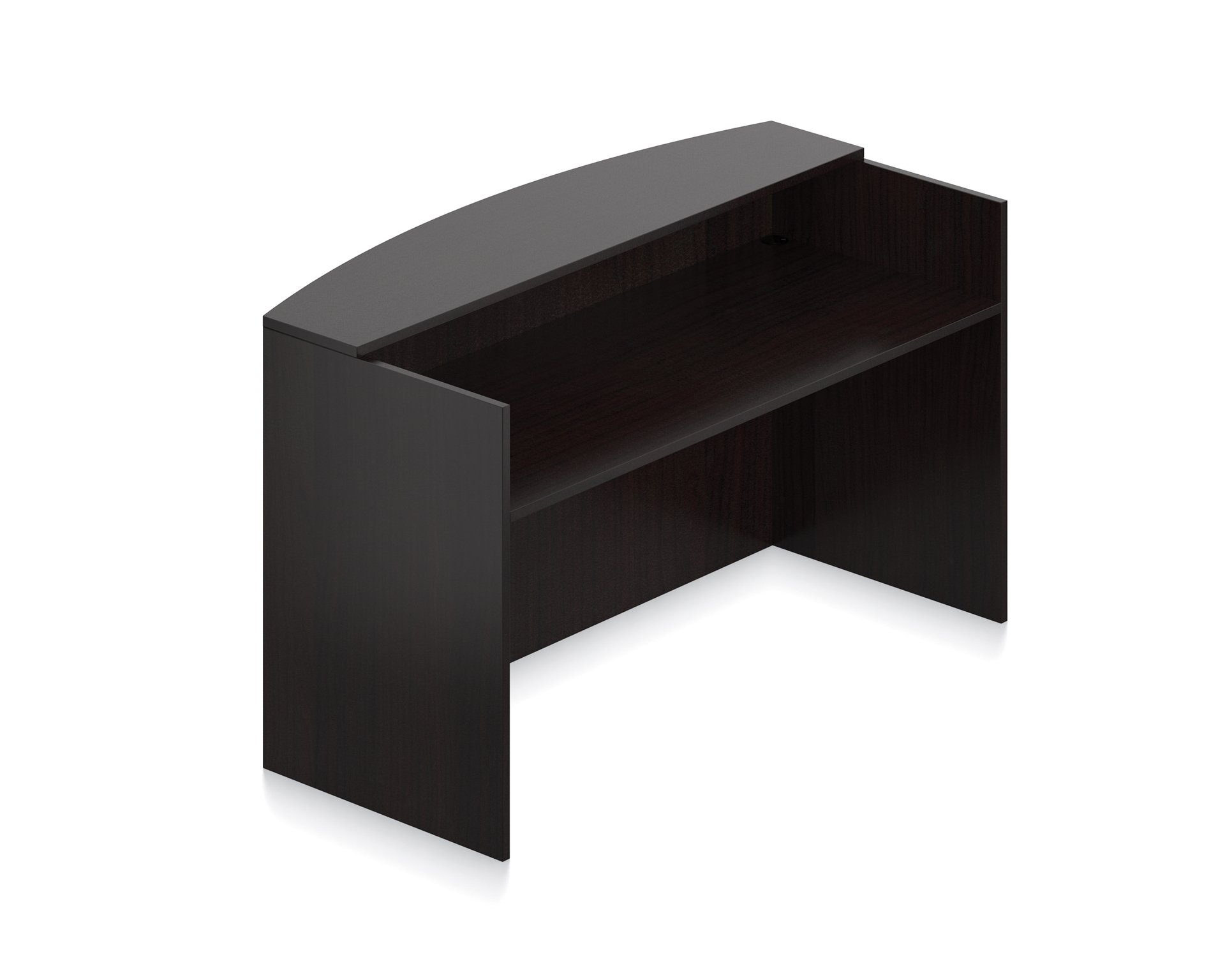 Offices To Go Office Reception Desk Shell Dimensions: 72''W X 30''D X 42''H - American Espresso by Offices To Go
