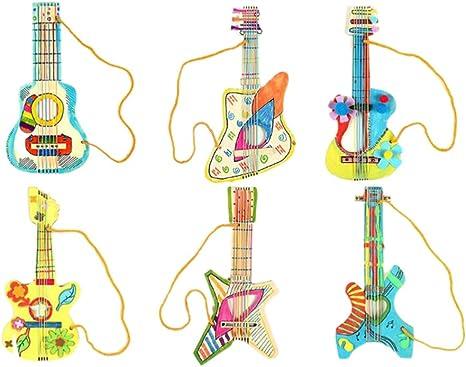 Holibanna Niños diy guitarra kit madera instrumento musical ...