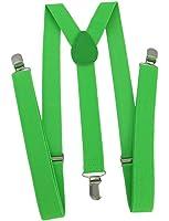 Bright Neon Green Suspenders