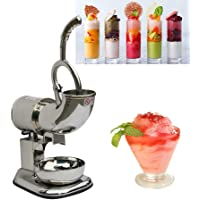 Denshine Commercial Ice Shaver Machine Electric Ice Crusher Stainless Steel Snow Cone Maker 220W 400Lbs/h Electric Ice Crusher for Cold Drink