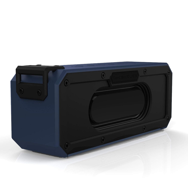 DEBON 40W Portable Wireless Speaker Bluetooth 4.2 Waterproof IPX7 Dustproof Shockproof 15 Hour Playtime TWS Dual Driver Powerful Speakers Outdoor Home Bar Party Travel Beach Shower Hiking (Blue) Junsi