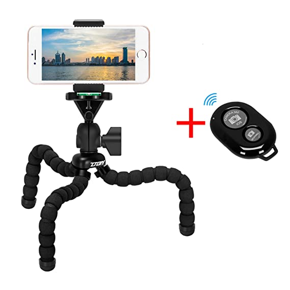 newest ab0d2 11307 ZTON Cell Phone Flexible Tripod Holder with Bluetooth Remote, 11''  Adjustable Mobile Phone Mount, Universal Octopus Stand for iPhone, Samsung,  Camera ...