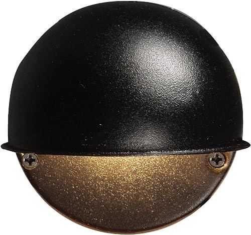 Malibu 8301-9400-01 7-Watt Low-Voltage Round Metal Surface Light, Black