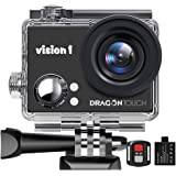 "Dragon Touch 1080P Action Camera 12MP Underwater Waterproof Camcorder with 2"" LCD Screen Remote Control and Mounting…"