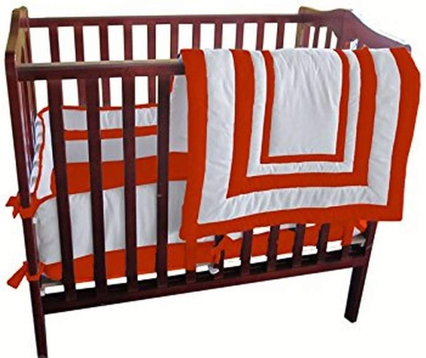 BabyDoll Modern Hotel Style Port-A-Crib Bedding Set Orange