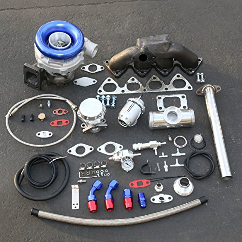 For Honda B-Series High Performance 13pcs Cast Manifold T04E Turbo Upgrade Installation Kit