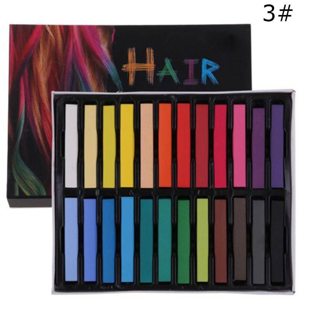 Gracefulvara 12 Color Hair Chalk Temporary Hair Dye Color Kit
