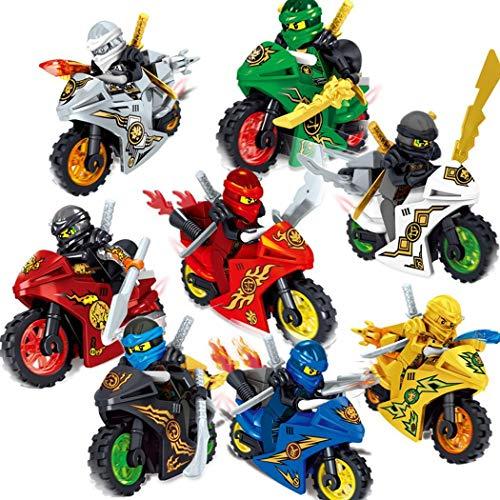 Dongtu Cartoon Motorcycle Blocks Kids Educational Brick Building Sets Toy-(1PC Random Color)