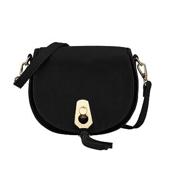 CRAZYCHIC - Women s Small Shoulder Handbag - Crossbody Bags PU Suede  Leather - Clutch Evening Purse 4a455b939ccdb