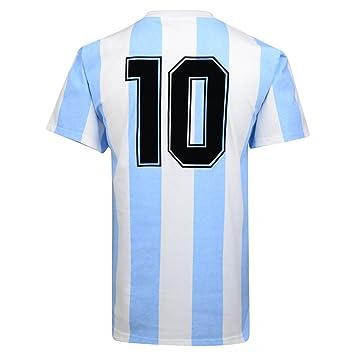 Camiseta oficial Argentina de la final del mundial de 1986 Número 10 de Score Draw Official