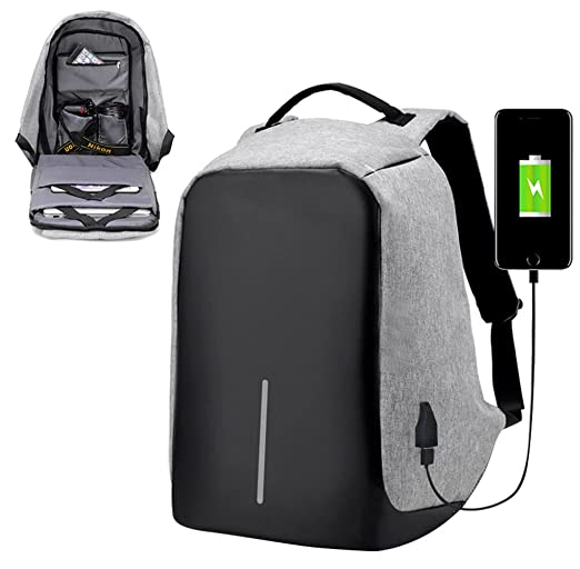 Amazon.com: Durable Laptop Backpack High Capacity Anti Theft Bag with USB Charging Port for College and Business: Computers & Accessories