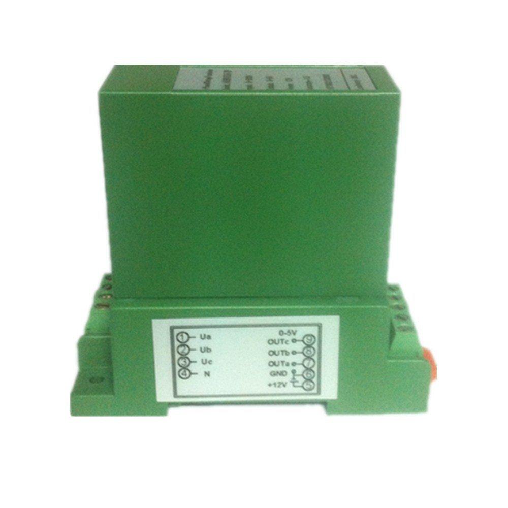 Loulensy 3-Phase AC Voltage Transducer Sensor Transformer Transmitter 3-input 0-150V AC with 3-output 4-20mA DC