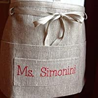 Gardening apron, linen personalized multicolour