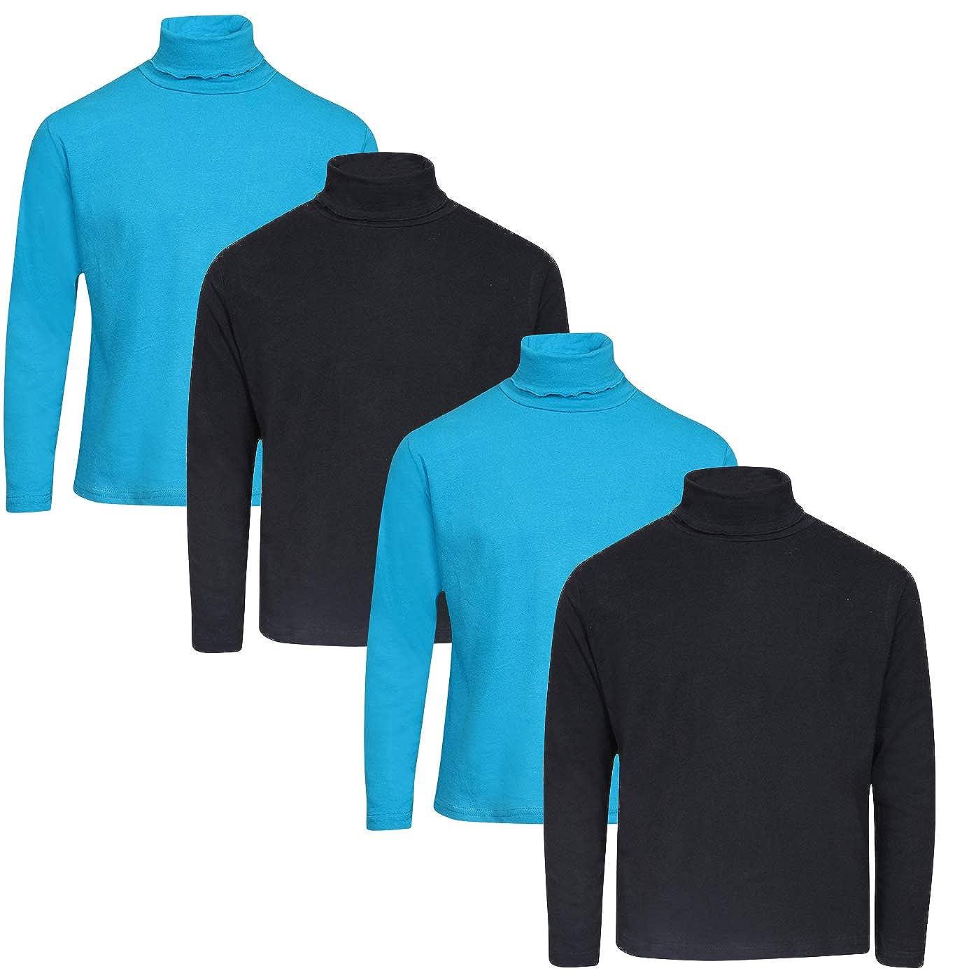 dELiAs Girls Solid Long Sleeve Turtlenecks 4 Pack