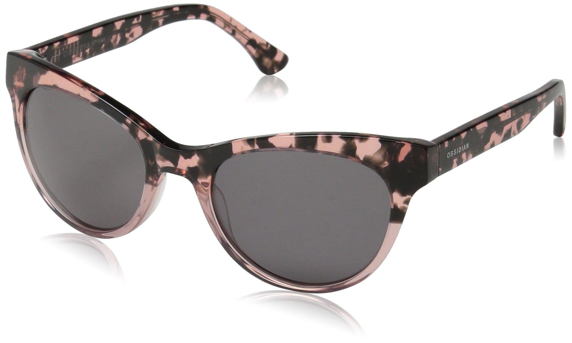 Obsidian Sunglasses for Women Fashion Cat-Eye Frame 11, Blush Tortoise, 53.5 mm