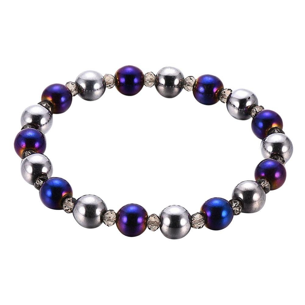HighPlus Hematite Magnetic Weight Loss Colorful Bracelet Slimming Bangle Accessories