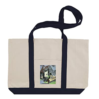 hot sale 2017 Houses In Beaulieu (Juan Gris) Cotton Canvas Boat Tote Bag Tote
