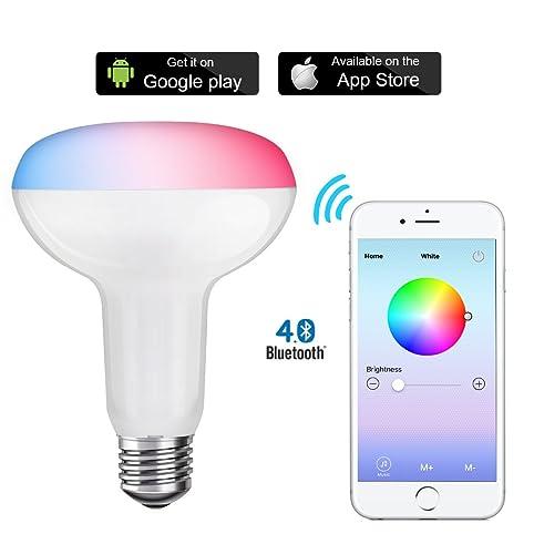 SHYU Bluetooth Smart Led Flood Light Bulb-Smartphone Controlled ...