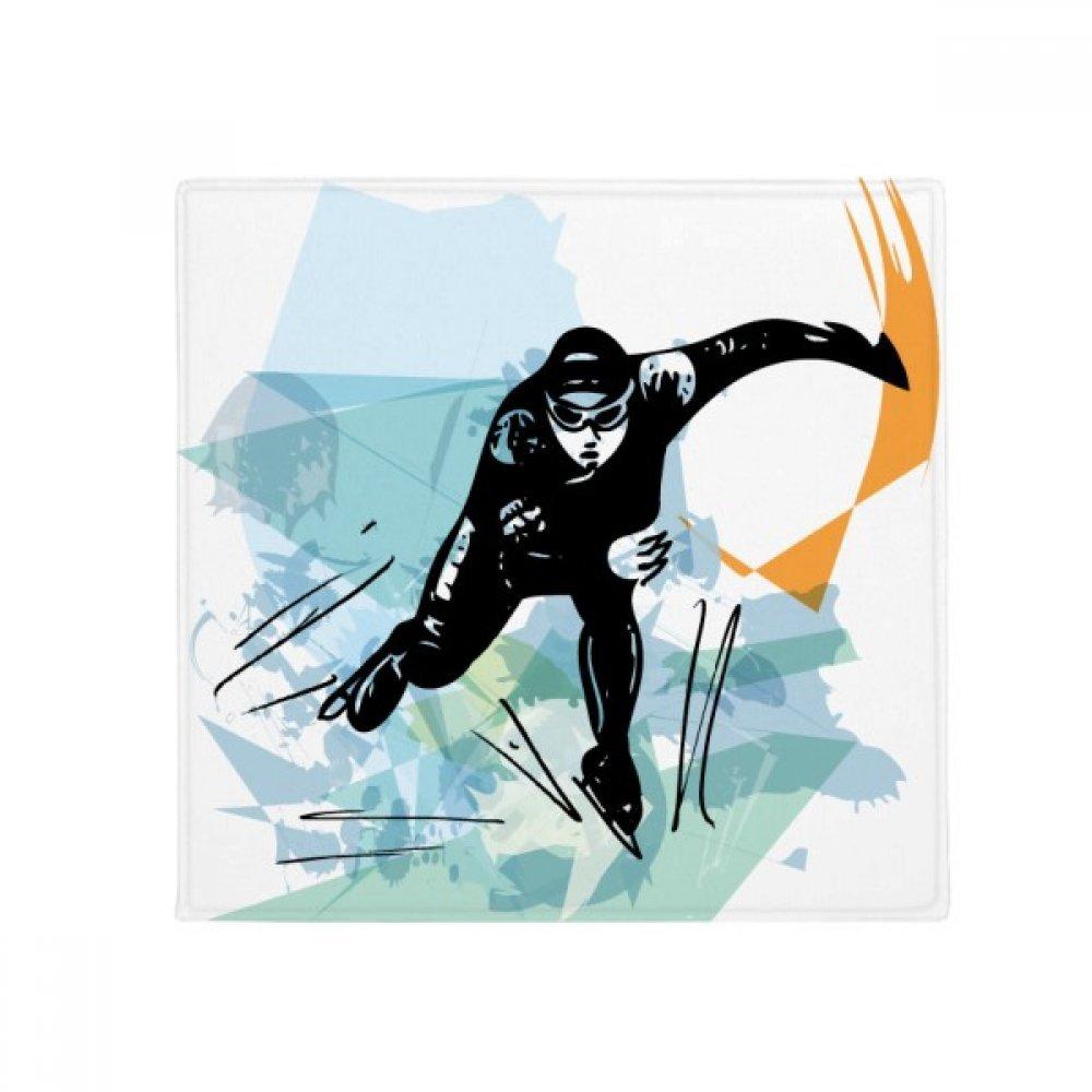 DIYthinker Winter Sport Speed Skating Male Athletes Anti-Slip Floor Pet Mat Square Home Kitchen Door 80Cm Gift