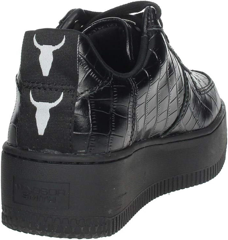 Windsor Smith Racerr Sneakers con Suola Alta da Donna Nere Multicolore