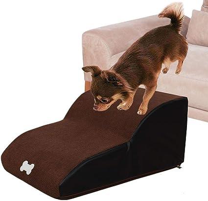 Shaying Escaleras para Mascotas Pasos Rampa para Perros Escalera portátil Lavable de 2 peldaños para Perros Gatos de hasta 121 LB / 55 kg: Amazon.es: Coche y moto