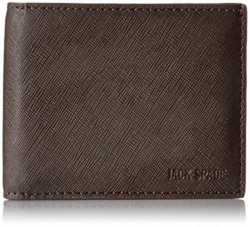 Men's Leather Jack Barrow Jack Billfold Brown Wallet Spade Spade Slim twwOfv