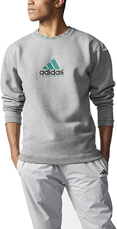 vegetariano Contribuir girasol  Adidas Men's EQT Equipment Crew Sweatshirt Core Heather Grey AJ7346 (XL):  Amazon.ca: Clothing & Accessories